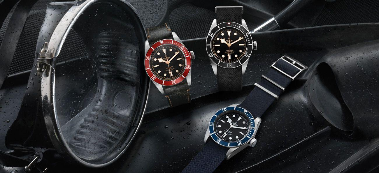 Tudor Heritage Black Bay timepieces