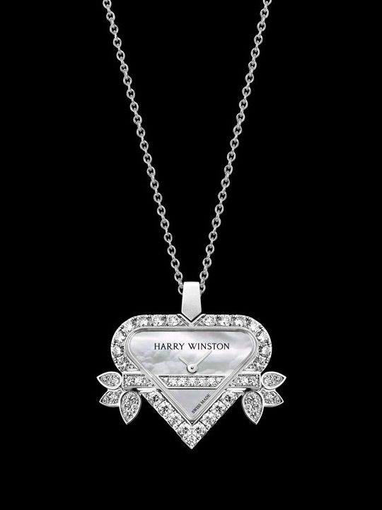 Harry Winston Rosebud necklace watch