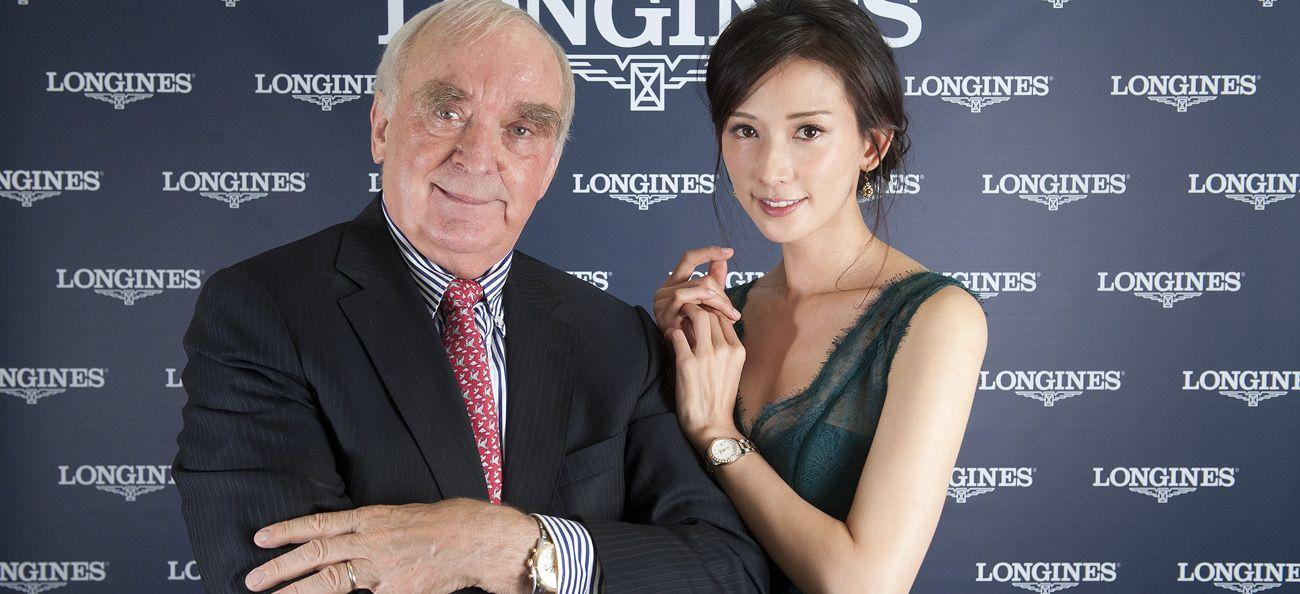 Longines president Walter von Kanel and ambassador Lin Chi-ling
