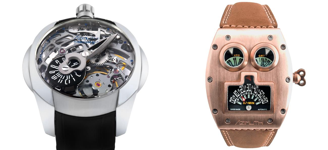 Azimuth Watch Predator and Mr. Roboto Bronze