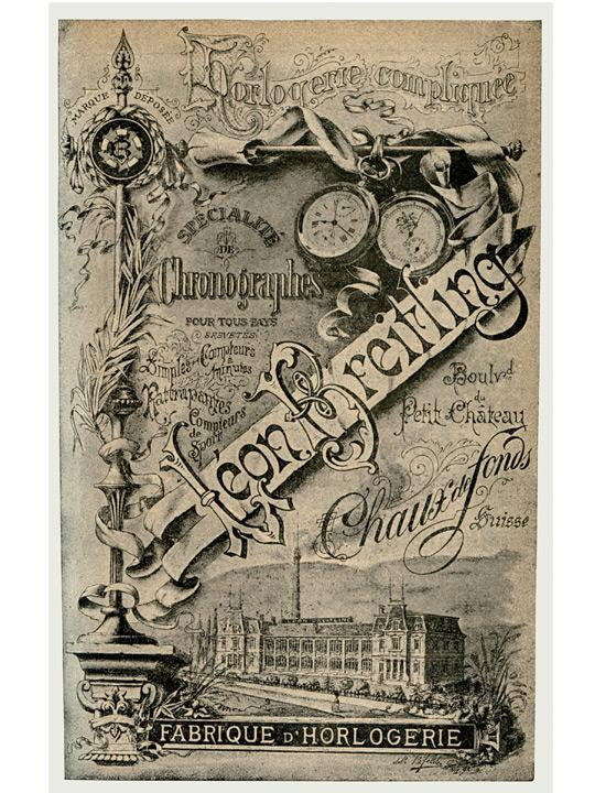 Breitling vintage ad from 1894