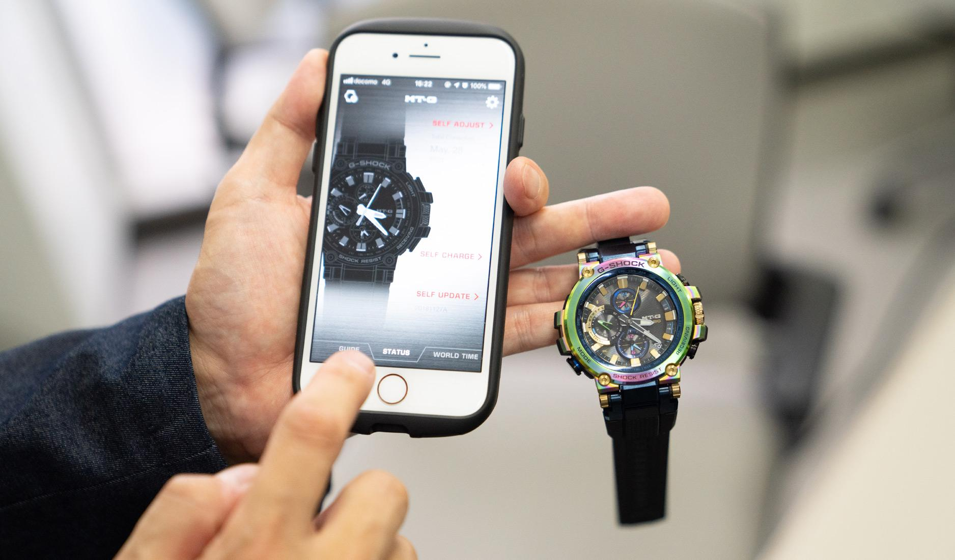 Bluetooth technology in the G-Shock MTG-B1000RB limited edition