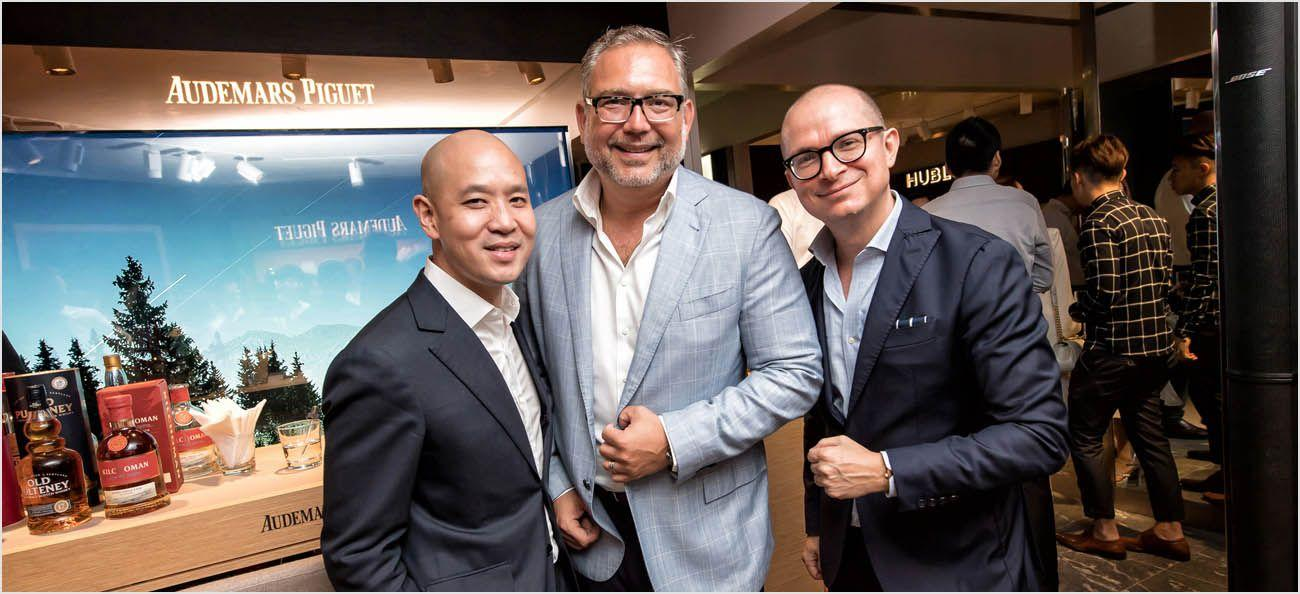 Mr Michael Tay, The Hour Glass, with Mr Oliviero Bottinelli and Mr Antonio Seward, Audemars Piguet
