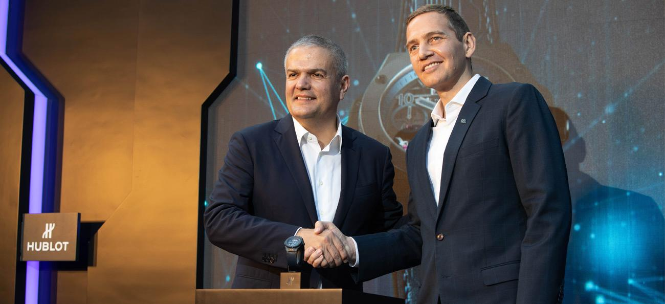 Hublot CEO Ricardo Guadalupe and OSL CEO Wayne Trench