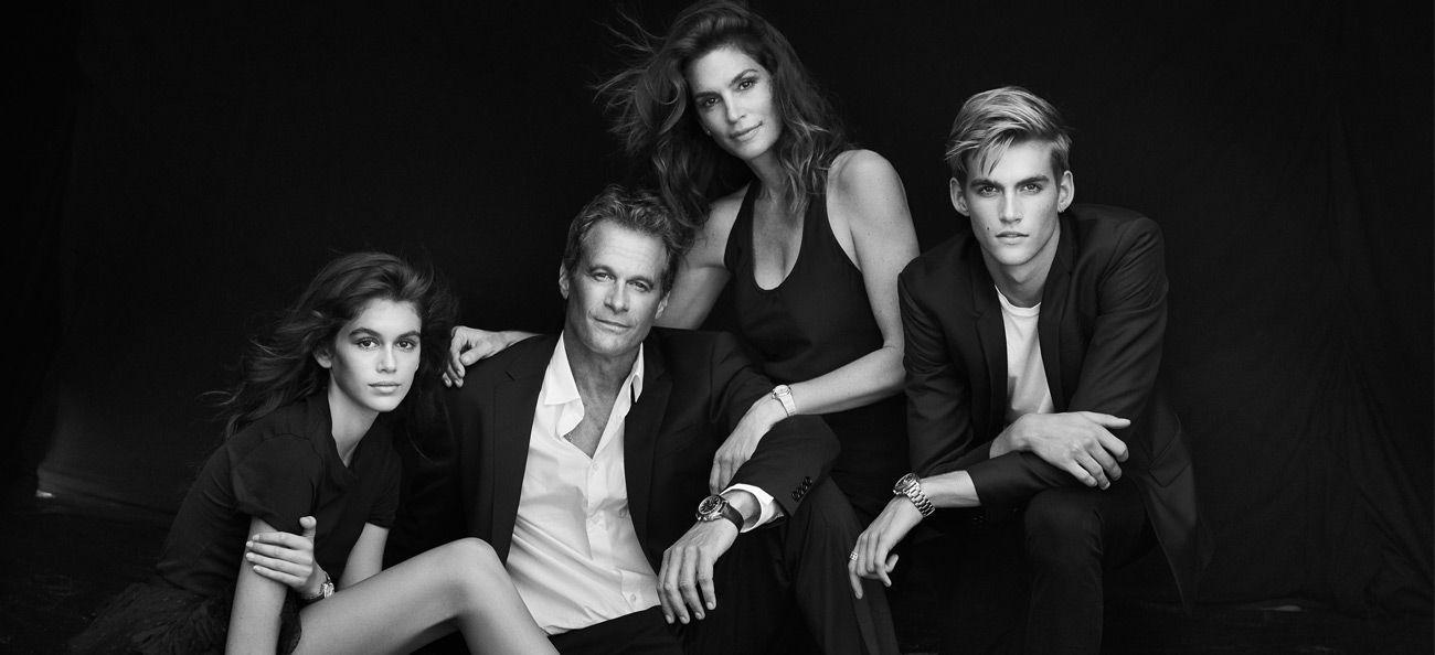 Kaia, Rande, Cindy and Presley Gerber