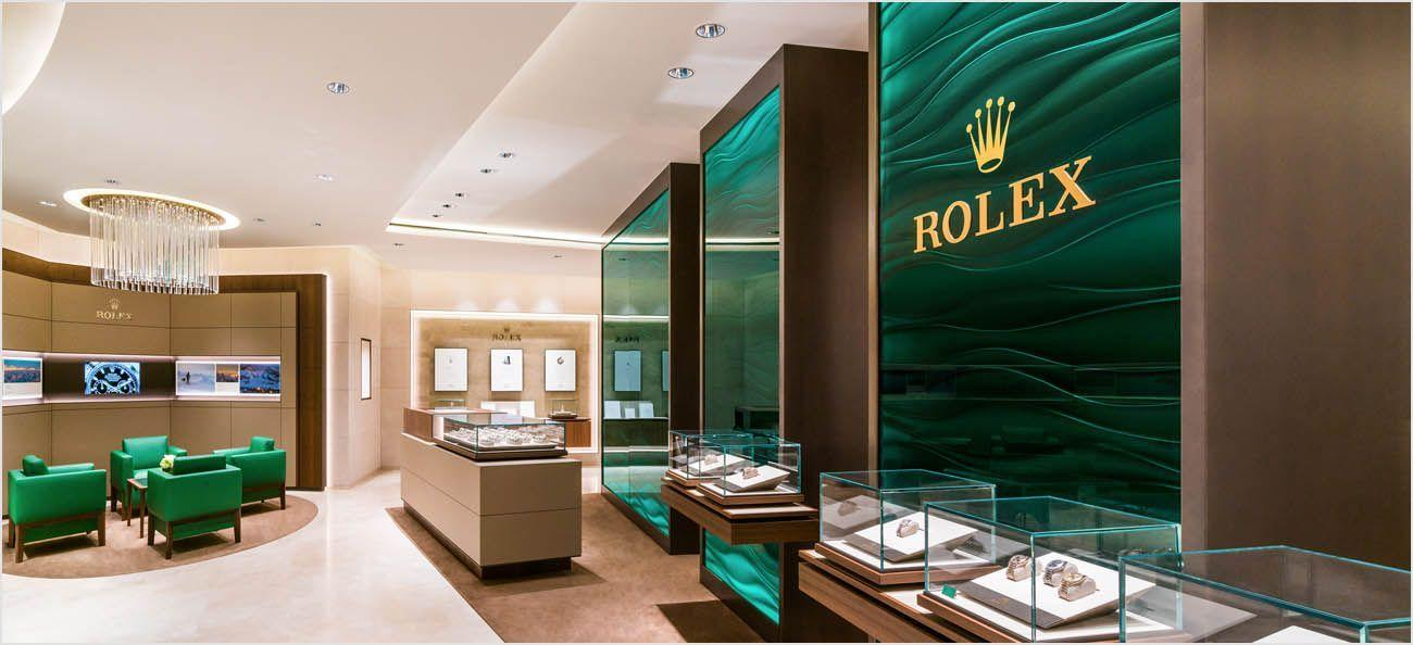 Rolex boutique retail area showcasing the latest models and iconic creations