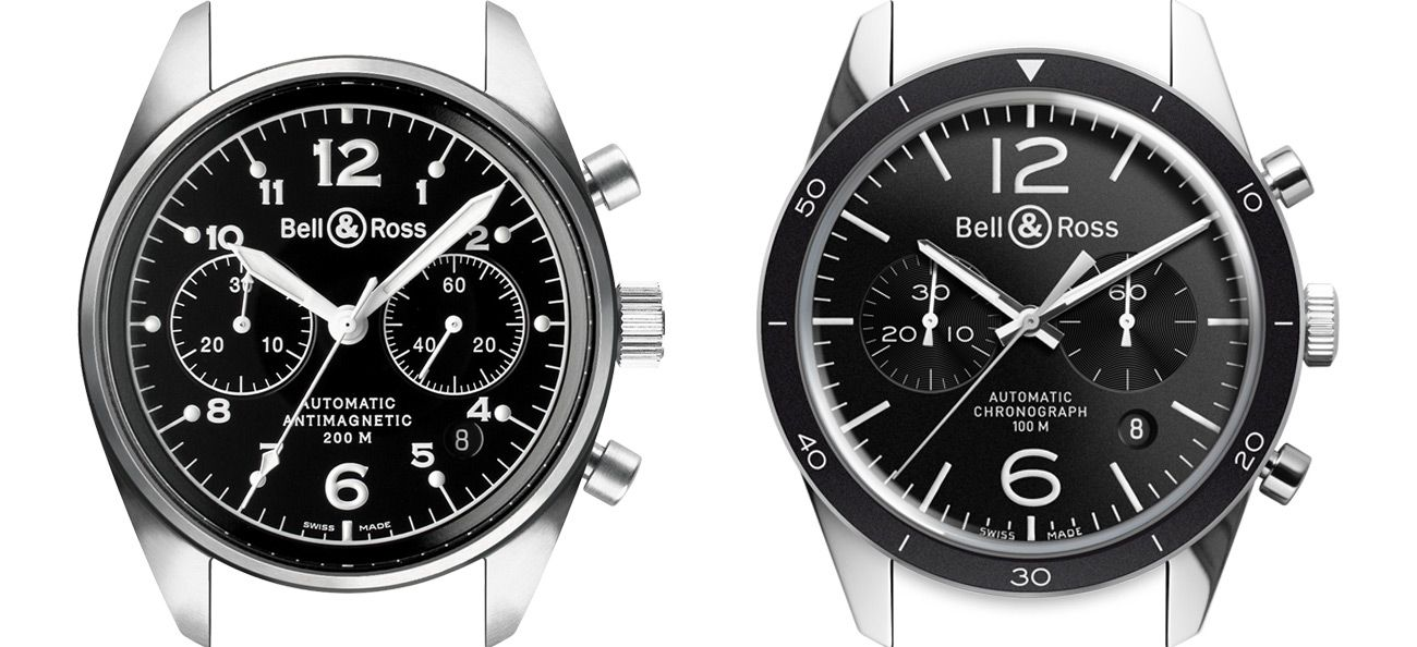 Bell & Ross first and second generation Vintage collection watches.