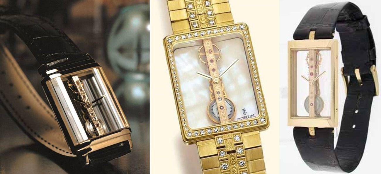 Vintage Corum Golden Bridge from the 1980s