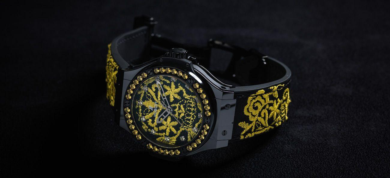 Big Bang Broderie Sugar Skull Fluo Sunflower