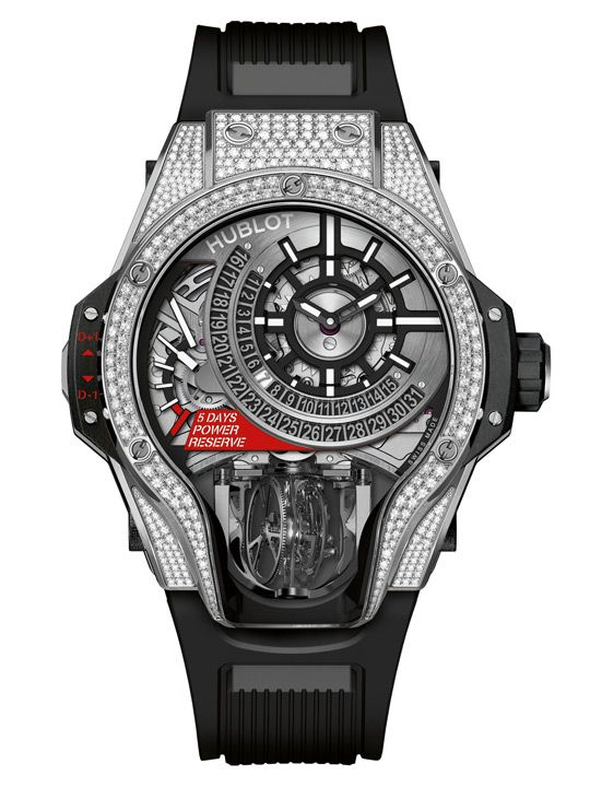 Hublot MP-09 Tourbillon Bi-Axis with diamonds