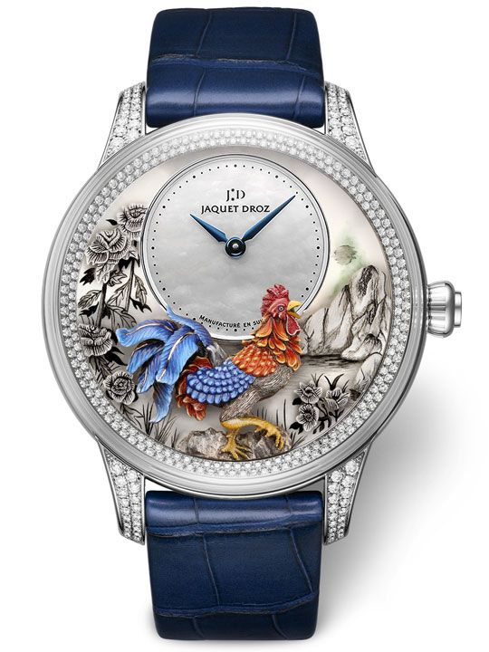 Jaquet Droz Petite Heure Minute Relief Rooster Ref. J005024282
