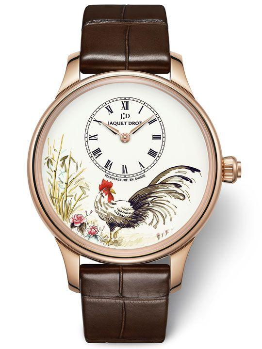 Jaquet Droz Petite Heure Minute Rooster Ref. J005013216