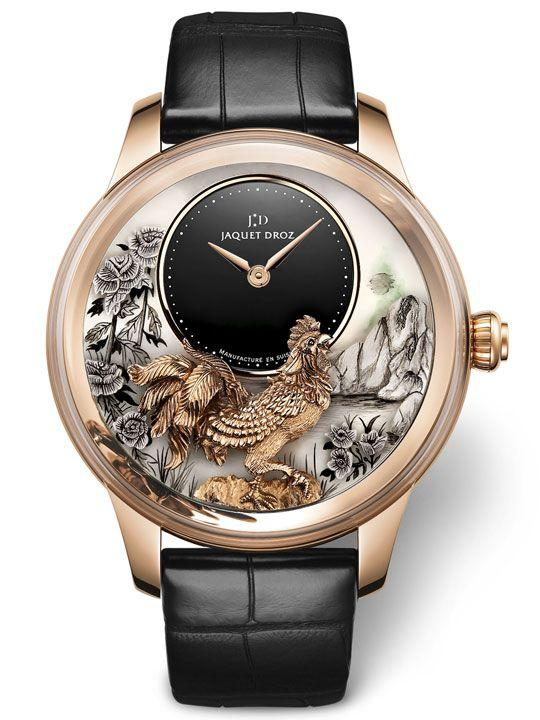 Jaquet Droz Petite Heure Minute Relief Rooster Ref. J005023282