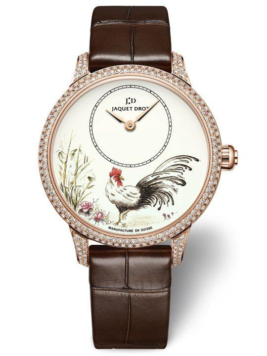 Jaquet Droz Petite Heure Minute Rooster Ref. J005003222