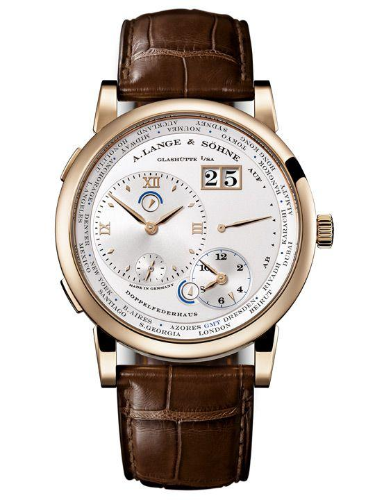 Lange 1 Time Zone in Honey Gold Ref. 116.050