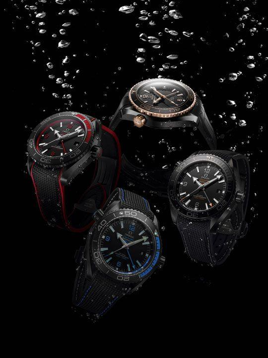 Omega Seamaster Planet Ocean Deep Black 2016 full collection