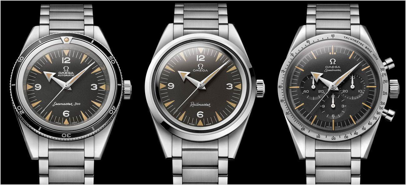 The new Omega Trilogy 2017 watches