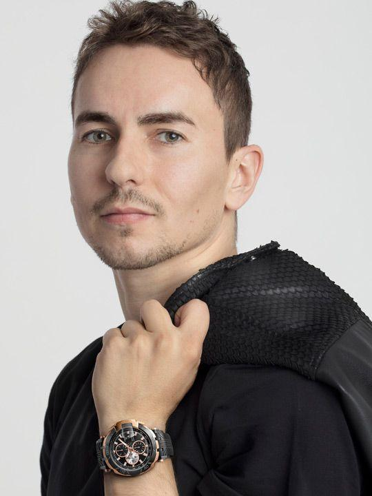 Jorge Lorenzo wearing Tissot T-Race MotoGP Automatic Limited Edition 2017